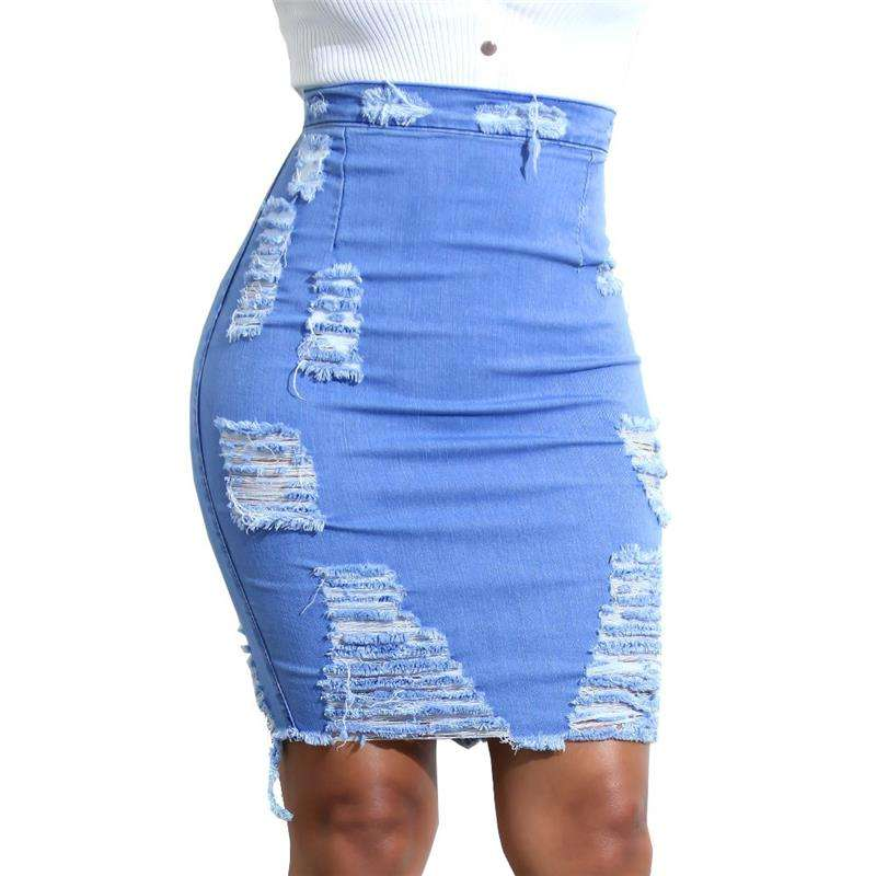 2018 suits lady trousers denim skirt jean China garments factory scratch jeans women