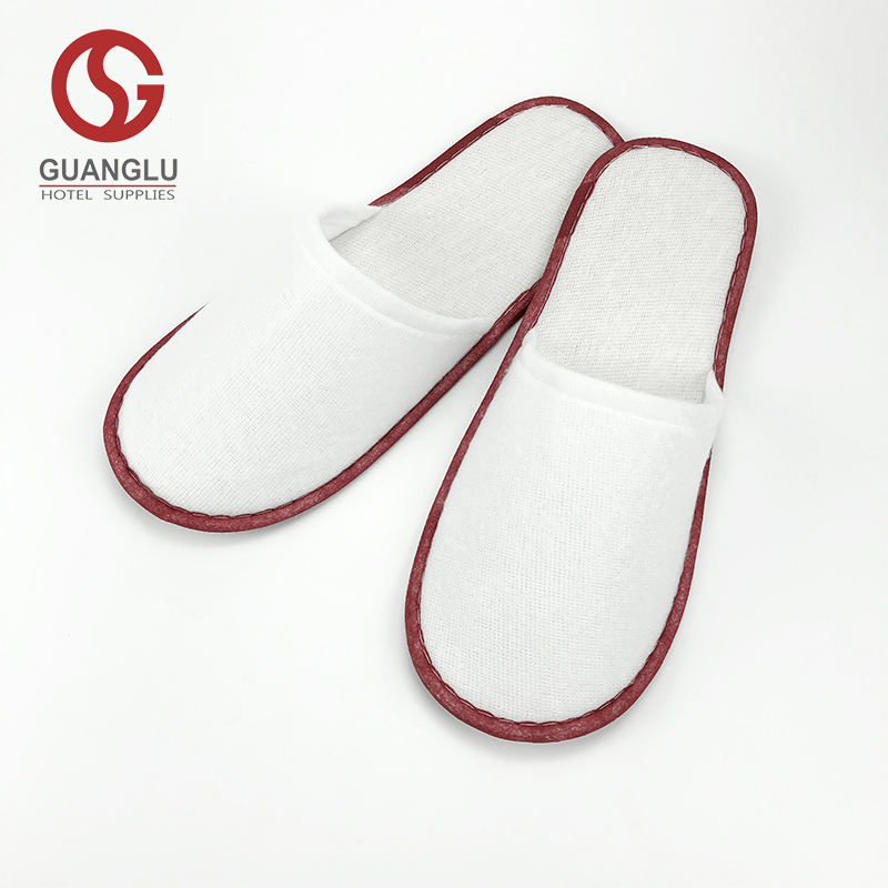 Hotel Customized Logo Printing Cotton Terry Slippers