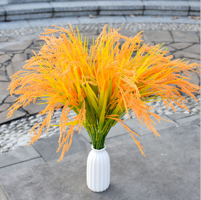 high quality 7 heads decorative artificial wheat grass, artificial babysbreath