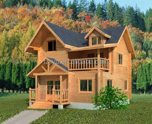 Latest hot sale holiday prefabricated wooden house villas cabins low cost bali bungalow for sale