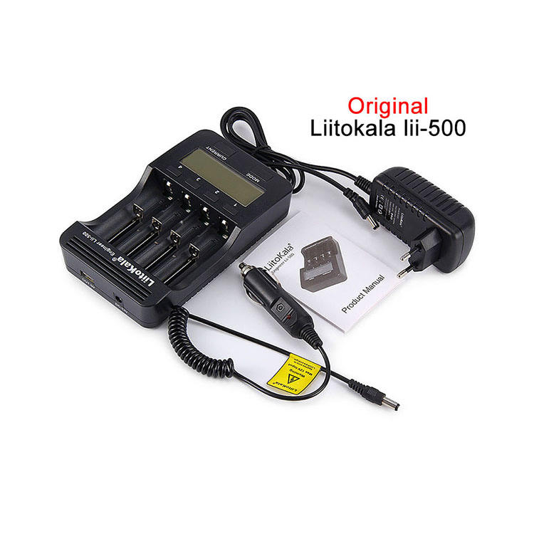 100% Original LiitoKala lii-500 LCD 3.7V 1.2V 18650 26650 16340 14500 10440 18500 lii 500 smart Battery Charger