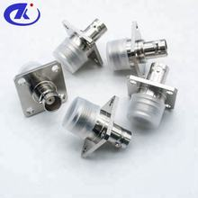 RF COAXIAL N FEMALE TO BNC FEMALE CONNECTOR ADAPTOR WITH FLANGE MOUNT