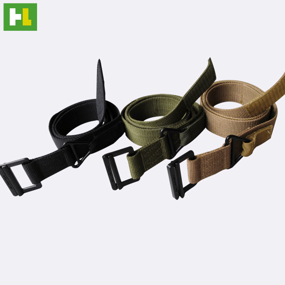 Military nylon waistband belt with plastic buckle men belt accessory