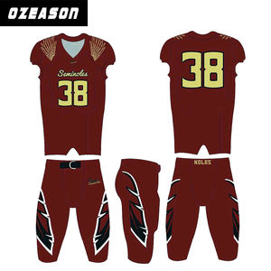 Oeason custom made good quality spandex youth cheap american football uniforms