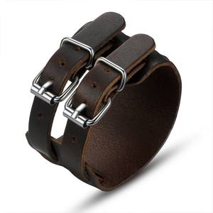 newest mens leather bracelet/wholesale cheap leather men bracelet