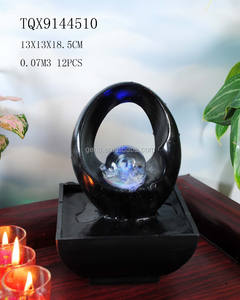 Together in Love with Glass ball Tabletop Water Fountain
