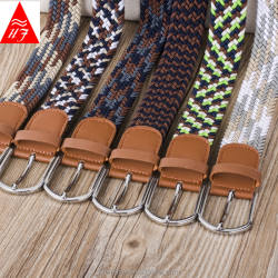 Fashion braided elastic belts for men and women
