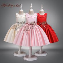 Girls Dresses Sleeveless Princess Wedding Dress For Children Party Clothes