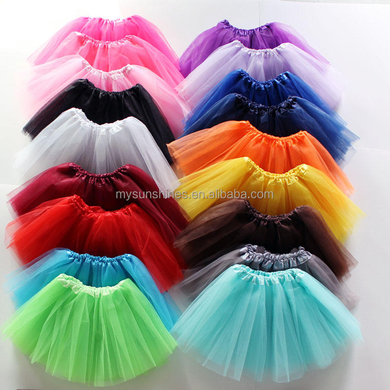 3 layers polyester tulle baby children big girl adult professional ballet basic tutu skirt