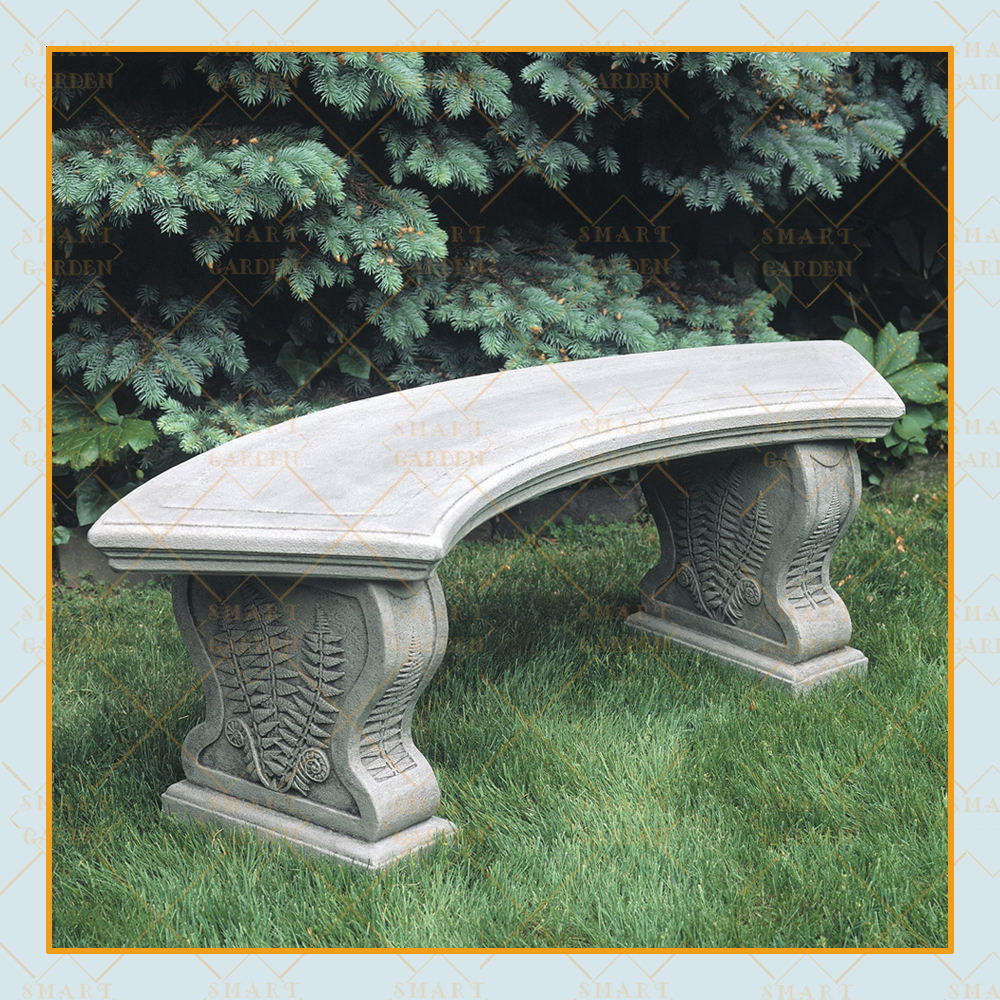 Natural Stone Benches Contemporary Curved Stone Bench Garden Seat