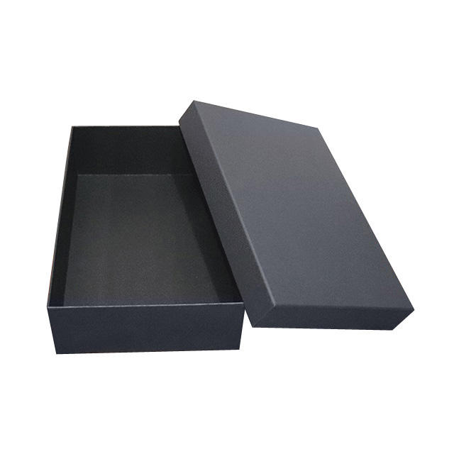 Factory wholesale high quality OEM gift black cardboard box packaging, custom design and size kraft paper packaging boxes