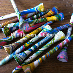 Special multi colorful golf tees in hand painting