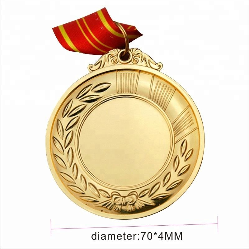 Ads Customized logo sport award metal gold blank medal