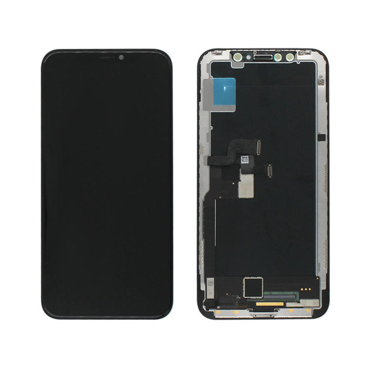 Huaqiang North Top sale OLED screen for iPhone X XS 5.8'' ,for iPhone X black touch digitizer
