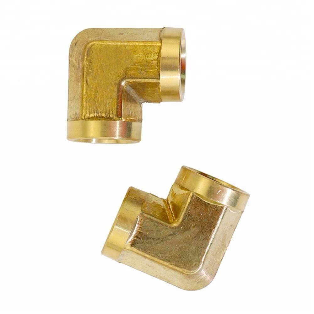 "NPT Thread Brass Pipe Tube Hose Fitting 90 Degree Elbow 1/2"" Female to 1/2"" Female"