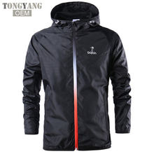 TONGYANG 2018 New Spring Summer Mens Fashion Outerwear Windbreaker Men' S Thin Jackets Hooded Casual Sporting Coat Big Size