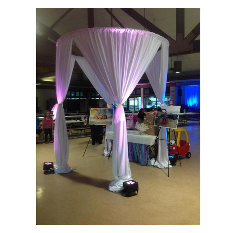 Cheap Circle Round Pipe And Drape Backdrop Wedding Decoration Set