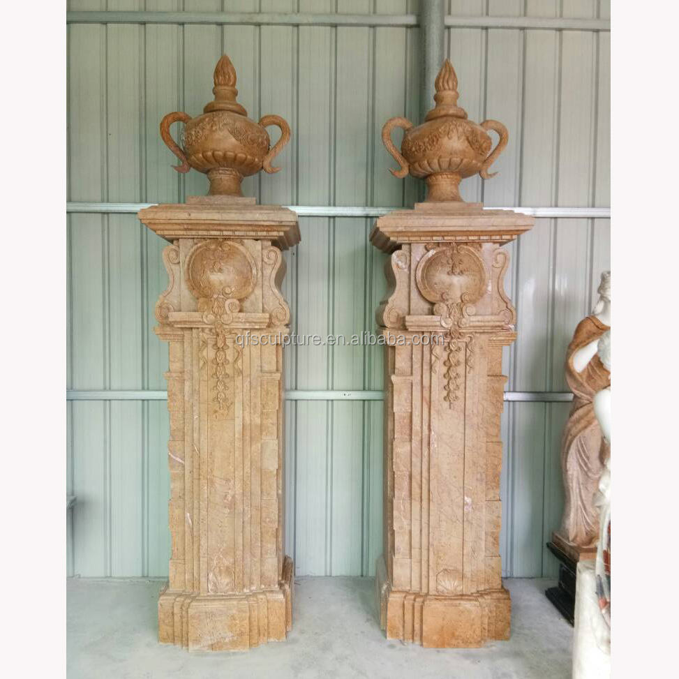 Factory marble stone door pillar stock