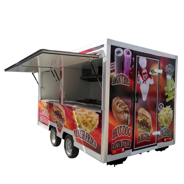 New design hot sale fashion food truck trailer churros cart for sale