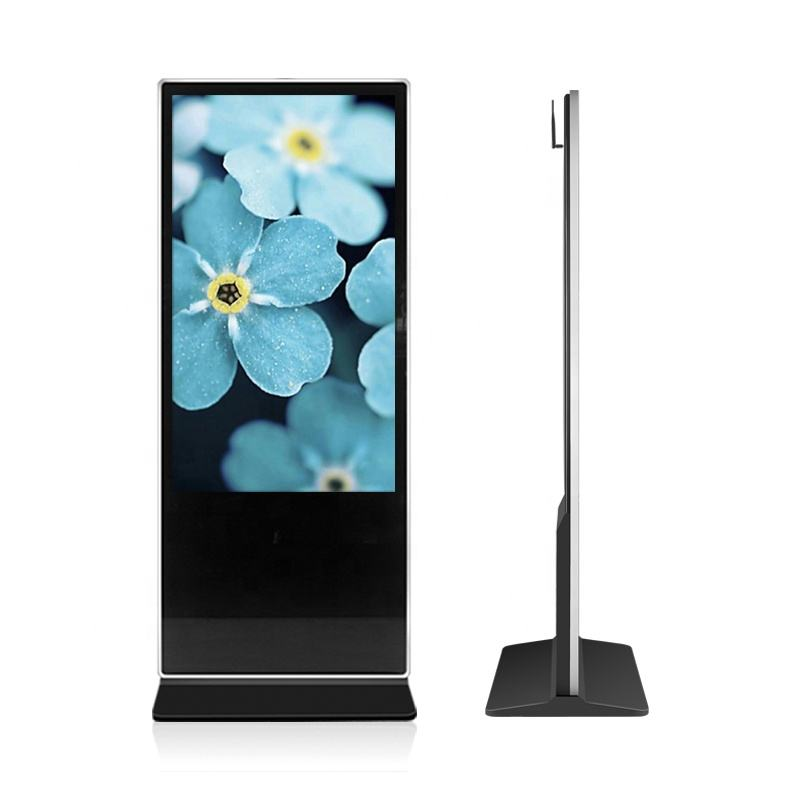 43 49 55 65 70 84 inch floor stand LCD advertising player indoor digital signage advertising Kiosk