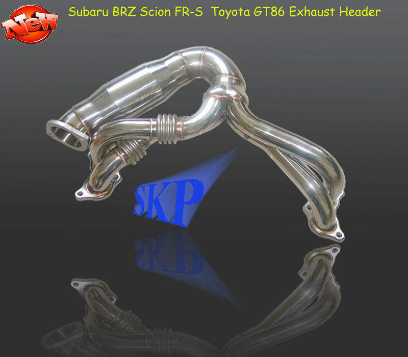 Exhaust Manifold Header Scion FR-S For BRZ GT86 With High Flow Internal Sleeved Air Craft Grade Flex Pipe