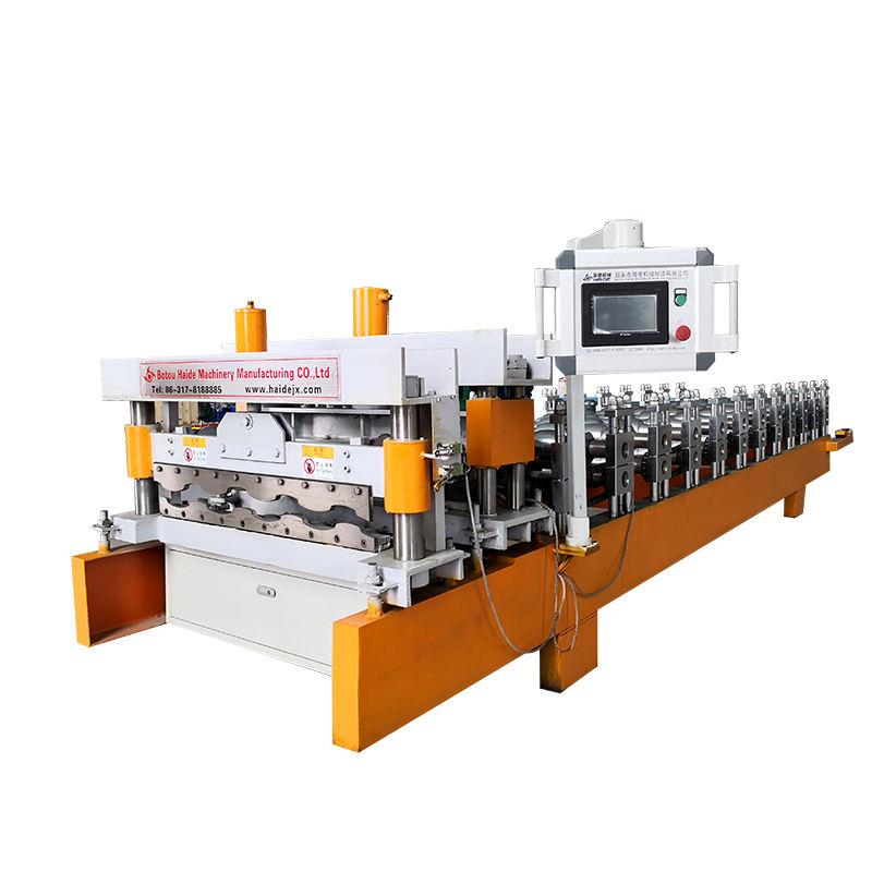 Automatic glazed tile trapezoidal roll forming machine