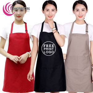 Wholesale Cotton free printing logo promotion sexy adult apron / cooking apron good quality factory price OEM