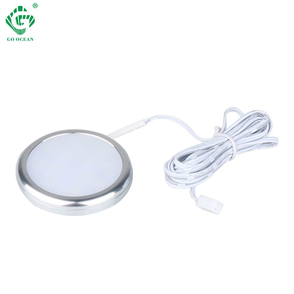 Whole Sale Surface Mounted 12V Round under cabinet light led for bookcase