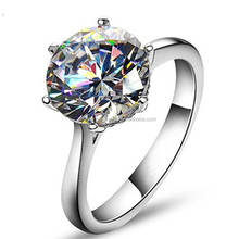 Elegant Round Cushion Cut Solitaire Halo Diamond Wedding Engagement Ring