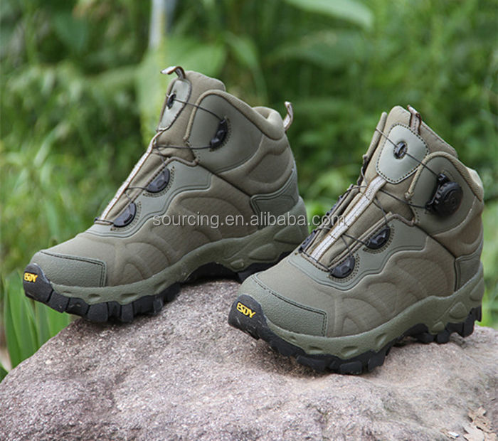 Outdoor Quick Reaction Design Lacing System Military Tactical Assault Boots