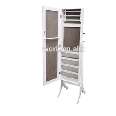 wood mirror jewelry dressing storage cabinet Jewelry Armoire , Make-up cabinet, Makeup mirror cabinet