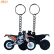 Motorcycle Model Cool Rubber Keyring Motorbike Racing Car Keychain 3D PVC