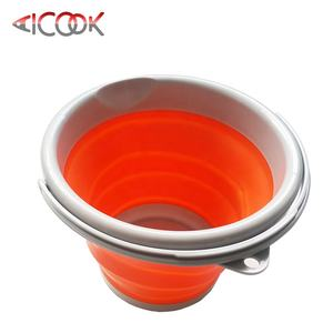 Practical 5L collapsible plastic beach bucket