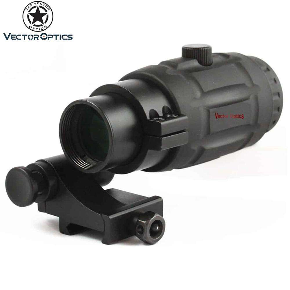 Vector Optics Corazzato di Gomma Regolabile 3x Magnifier per Red Dot Sight Red Dot Scope w/Flip Side QD Mount Gomma copertura
