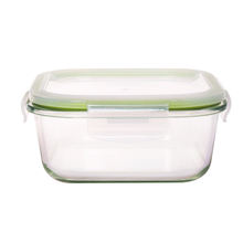Square glass bento box/tempered glass lunch container/glass food container stackable