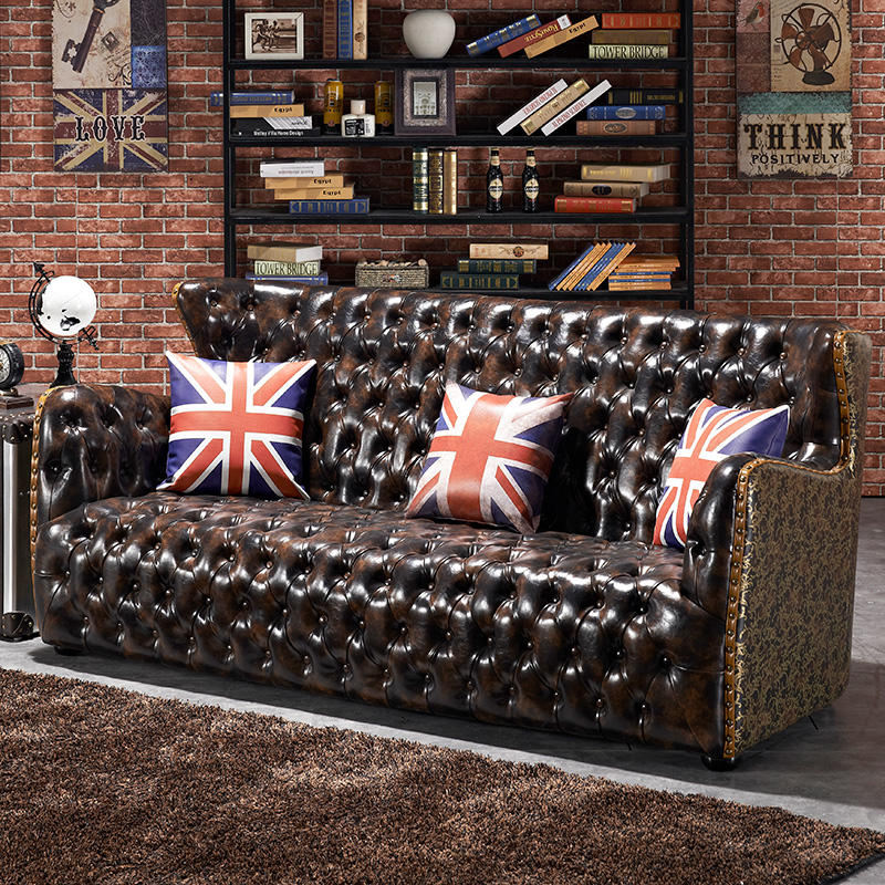 korean style 3 1 1 Classic French Style Furniture vintage classic lazy boy italy leather sofa chesterfield leather
