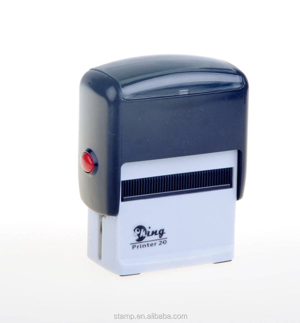 2021 Factory plastic rubber material custom shiny self-inking stamp machine