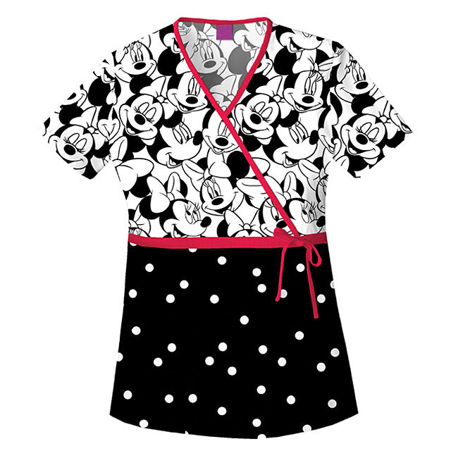 Medical Scrubs Nursing Uniforms Printed Tops For Women