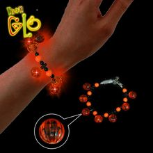 Halloween LED Light Up Flashing Bracelet With Small Pumpkins