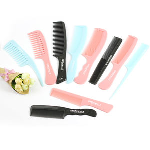 Hot sale Static Wide Tooth Woman Custom Wholesale Logo Plastic Hair Comb