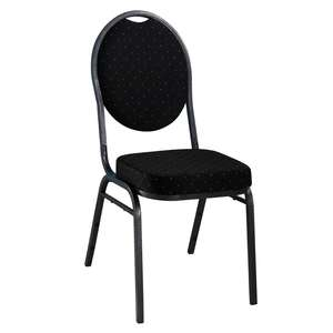 Cheapest new elegant stacking black fabric metal restaurant banquet hotel chair European