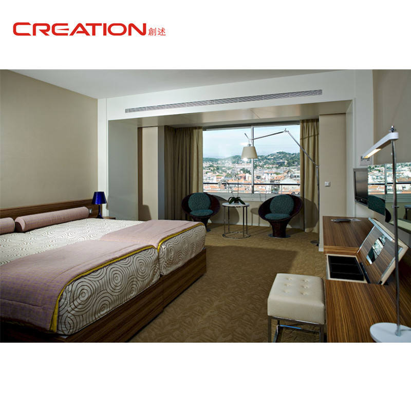 Custom made good quality modern hotel room furniture set