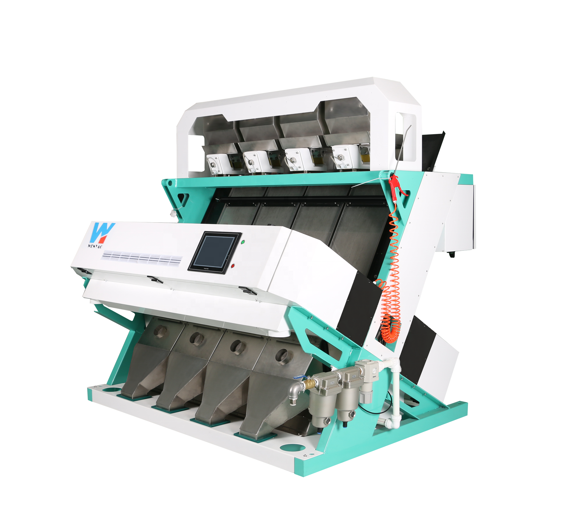 Areca-nut color sorter machine for sorting broken betel nut