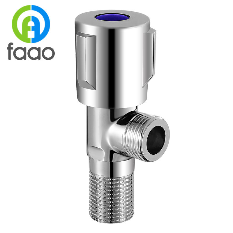 FAAO High-quality Chromium plating on brass Angle valve