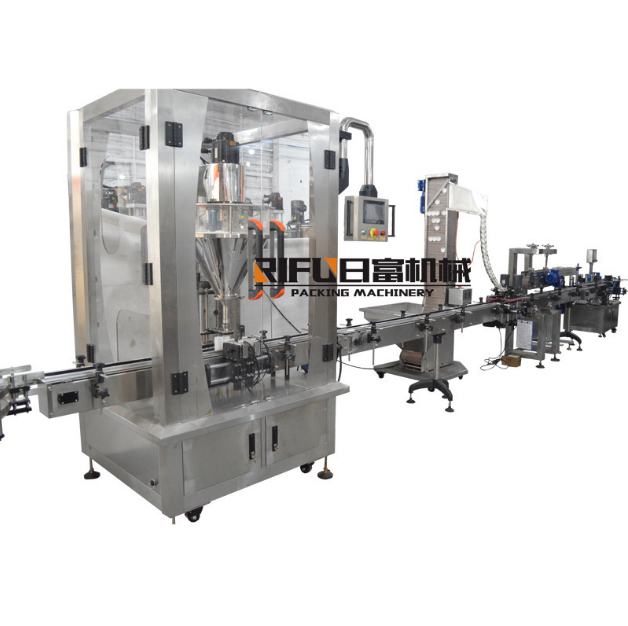 automatic filling powder machine production line