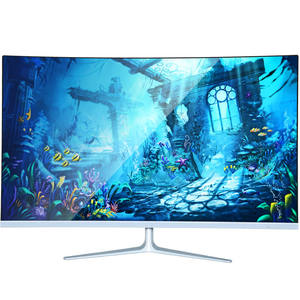 Ultra Tipis 39 Inch LED Lampu Latar Desktop LCD 1080 P Curved Gaming Monitor