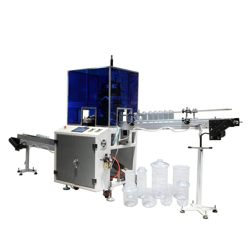 high speed automatic plastic pet can bottle neck cutter machine price