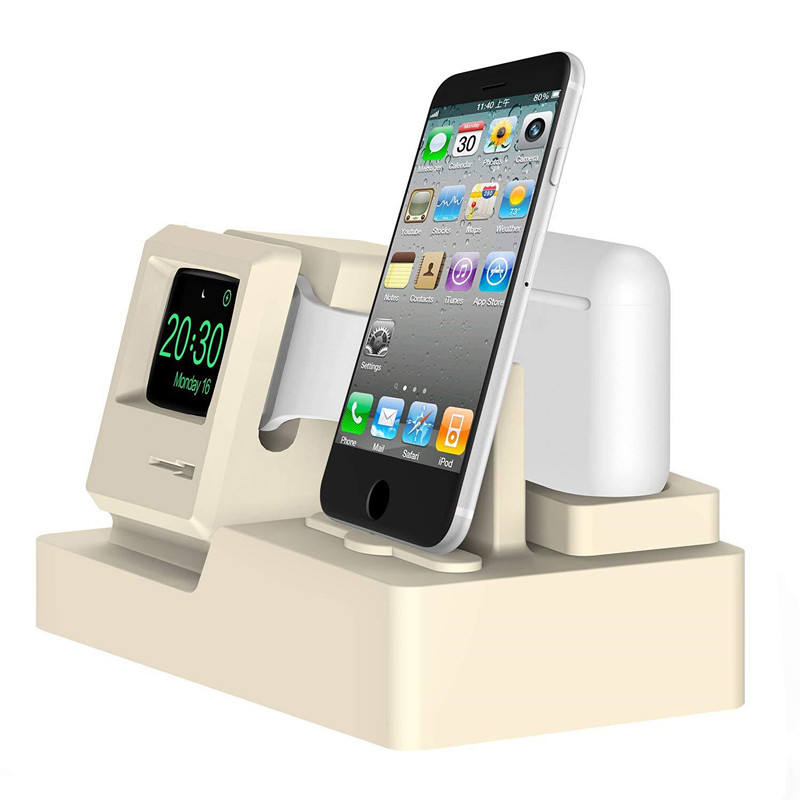 2019 Amazon Hot 3 in 1 Charging Dock Silicone Charging Stand Station for Apple