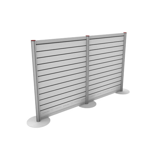 Portable Double-sided Aluminum Slatwall with fabric panel good for Shop Display
