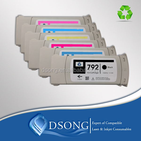 Full inkjet cartridge 792 for Designjet L26500, L28500 with right color and arc chip